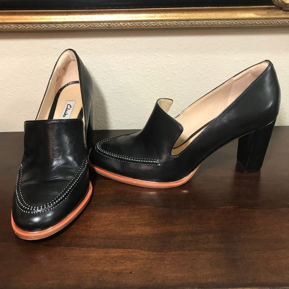 0f1c188632a8 Clarks Shoes - Clarks Ellis Mabel pump  heeled loafer
